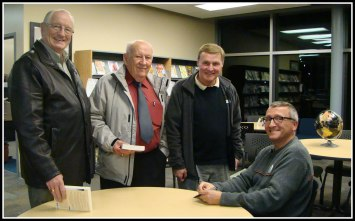With Stellarton mayor and councillors. One Book Tour 2012. Photo: Steve MacLean