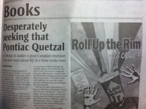 This is the first newspaper review of Roll Up the Rim.